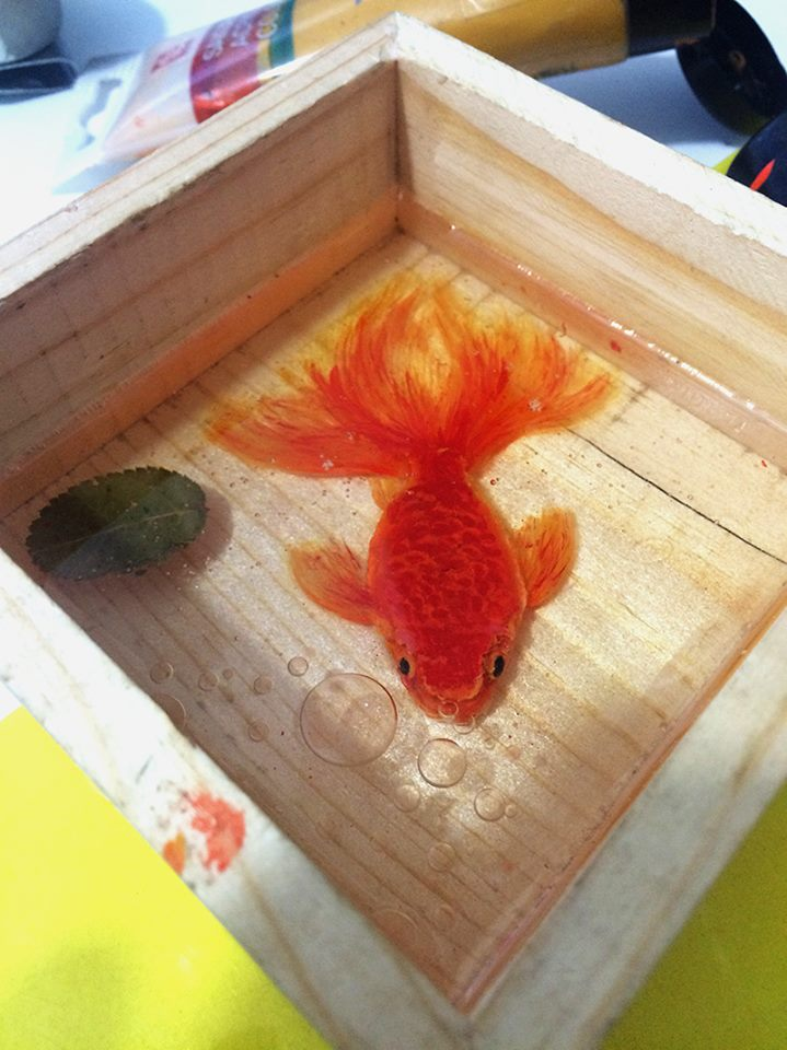 3D Fish in the box